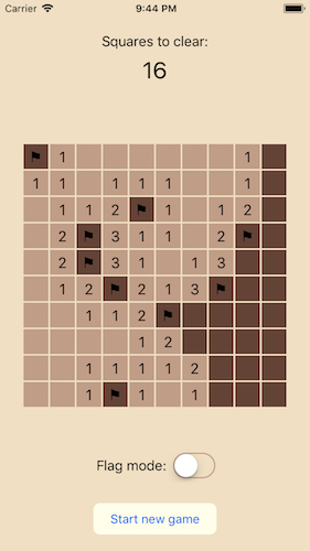 Figure 1: Mines  - mines screenshot - The worst possible application