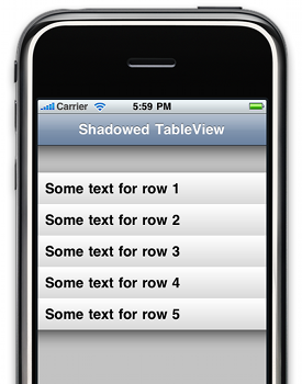 Adding shadow effects to UITableView using CAGradientLayer